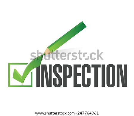 inspection check mark illustration design over a white background - stock vector
