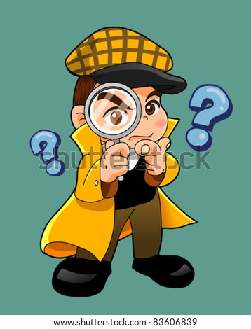 inspector cartoon - stock vector