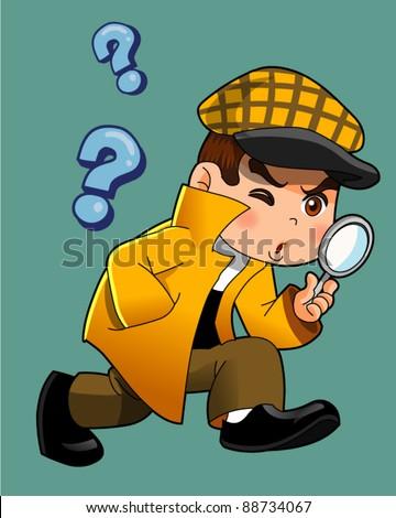inspector character 2 - stock vector
