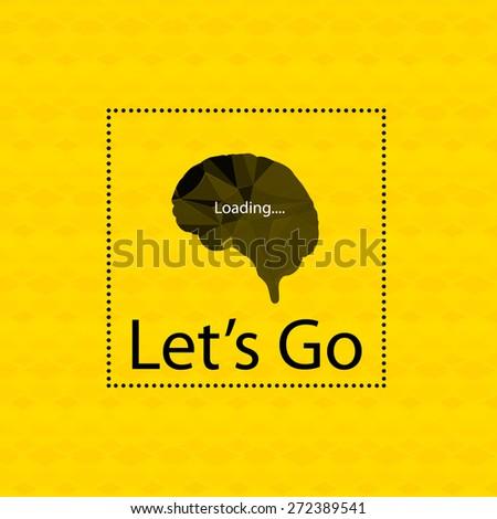 Inspiration brain cover, easy editable - stock vector