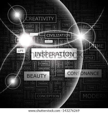 INSPIRATION. Word cloud concept illustration.
