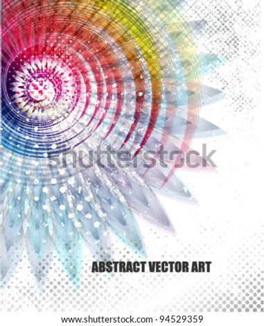 inspirational abstract background (technology concept) - stock vector