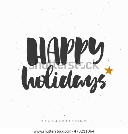 Inspirational Quote Brush Lettering Quote Christmas Stock Vector ...