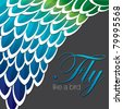 inspired abstract feather background in vector format. - stock photo