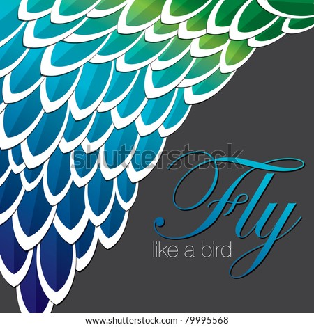 inspired abstract feather background in vector format.