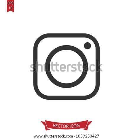 Instagram Icon Vectorinstagram Logo Symbol Isolated Stock Photo