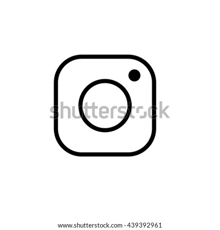 Instagram logo. Isolated Instagram logo. New vector Instagram logo. - stock vector
