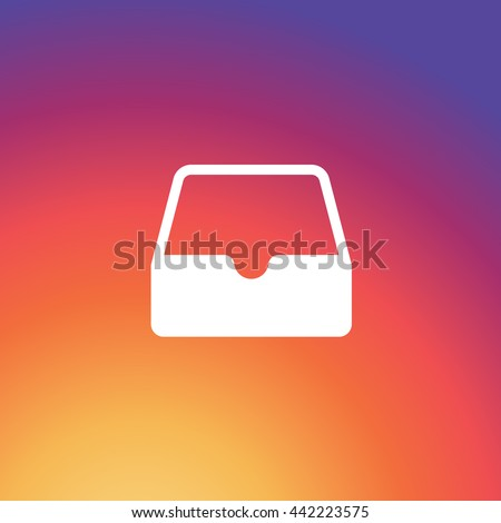 Instagram message box vector icon, New Gradient Background, UI design signs, notification shape, flat, Image, EPS, Sape. Social Media User Interface