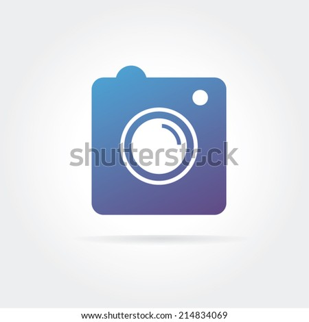 Instagram vector icon logo isolated on white background - stock vector