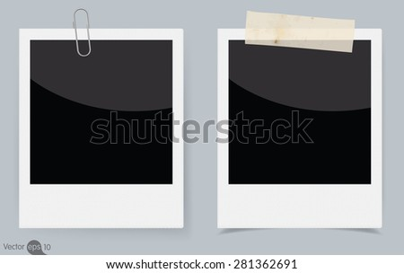instant photo frame. Vector  - stock vector