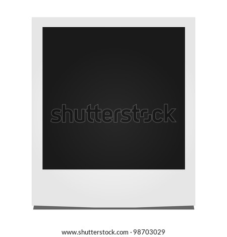 Instant Photo Illustration - stock vector