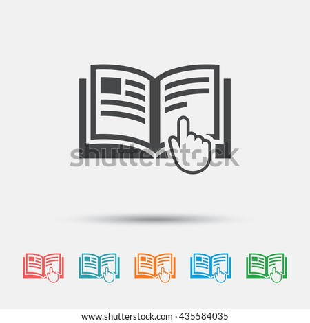 Instructions icon stock images royalty free images for Vector canape user manual