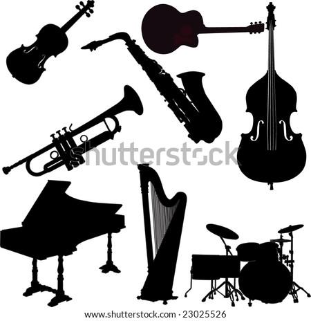 instrumens collection - vector - stock vector