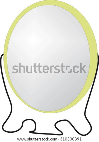 insulated mirror, glass, reflection, cartoon vector