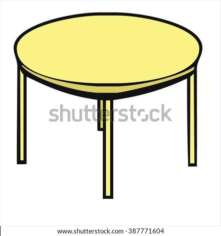 Insulated Round Table Cartoon Vector Stock Vector 387771604