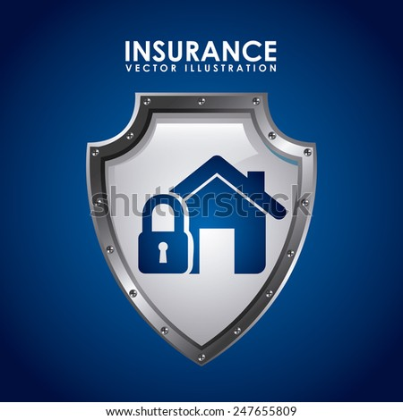insurance icon design, vector illustration eps10 graphic - stock vector