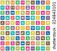 insurance 100 icons universal set for web and mobile - stock vector