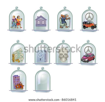 Insurance (under a glass cover) - stock vector