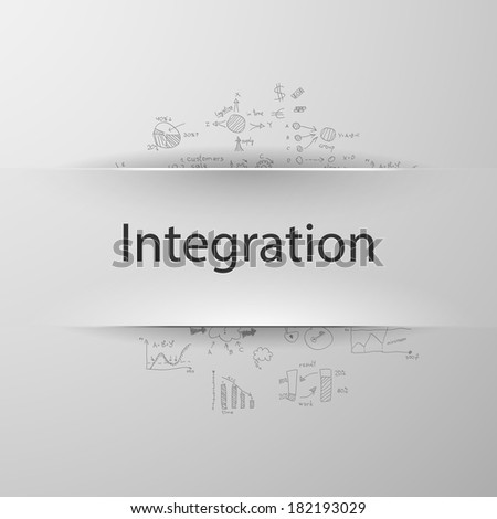 Integration - stock vector