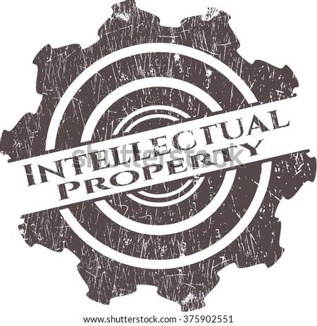 Intellectual property grunge seal - stock vector