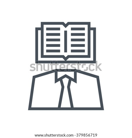Intellectual property icon suitable for info graphics, websites and print media and  interfaces. Line vector icon. Human face, head, line vector icon. - stock vector