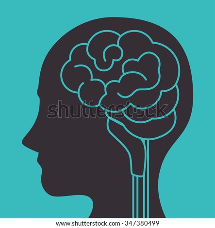 Intelligence of the human brain graphic design, vector illustration eps10