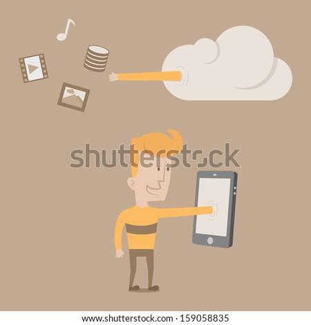 Intelligent Cloud Computing  , eps10 vector format - stock vector