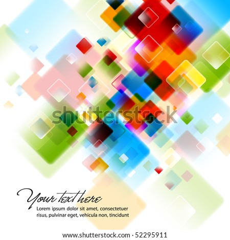 Intensive Colors - Abstract EPS10 Vector Background - stock vector