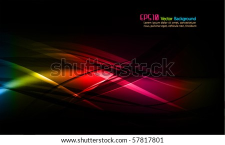 Intensive Colors | Abstract Wavy Vector Background - stock vector