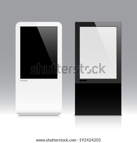 Interactive touch screen. Vector. - stock vector