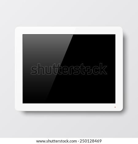 Interactive wall touch screen. Vector. - stock vector