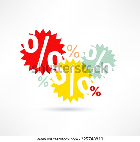 Interest icon. Logo design. - stock vector