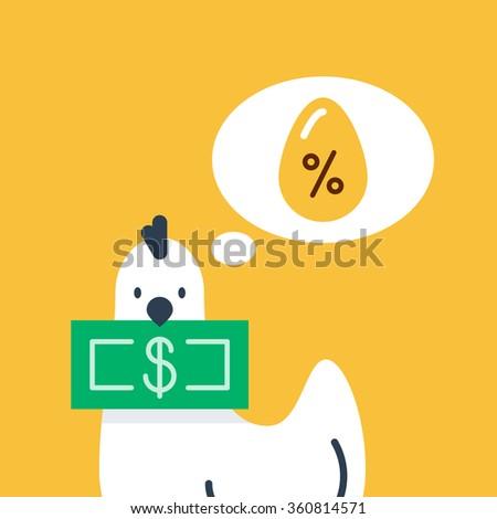 Interest rate, bank deposit, savings account - stock vector