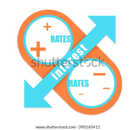 interest rates symbol. percentage design up and down concept. vector stock. - stock vector