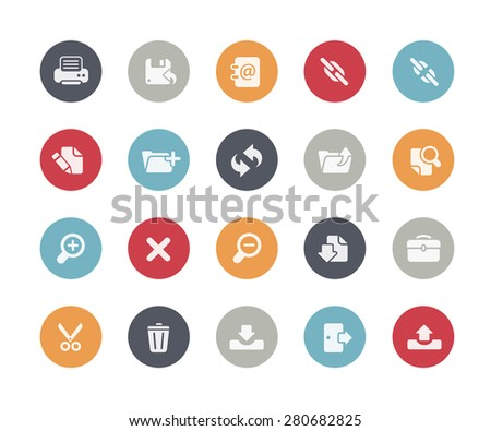 Interface Icons // Classics Series - stock vector