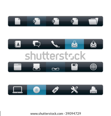 Interface Icons - Office. Editable Vector File in Adobe Illustrator EPS 8. - stock vector