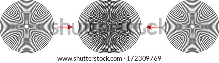 interference of fine grids - stock vector