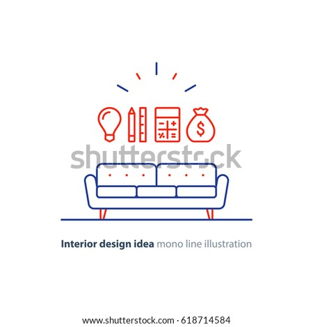 Interior Design Idea, Sofa Icon, Renovation Cost Calculation, Order  Furniture, Project Budget