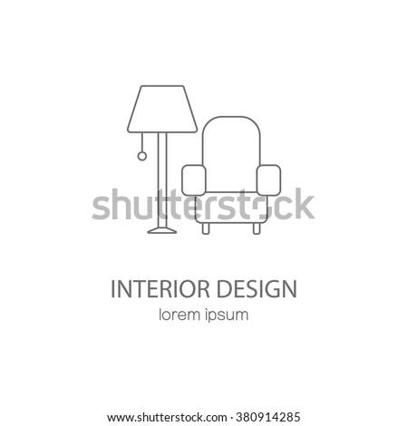 Interior design logotype design templates. Modern easy to edit logo template. Vector logo design series. - stock vector
