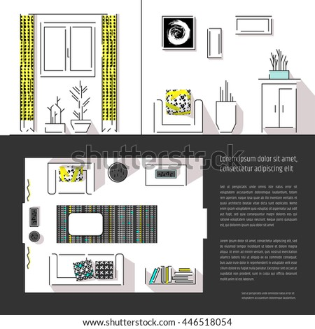 Interior Design Magazine Page Layout Web Site Template Includes Two Views
