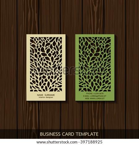 Interior Designer Card Template - stock vector