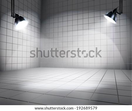Interior display. Vector illustration. - stock vector