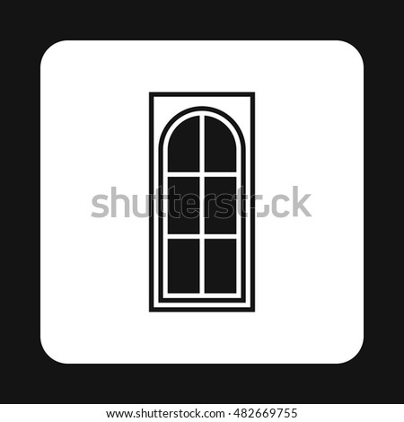 Interior door icon in simple style isolated on white background. House symbol vector illustration