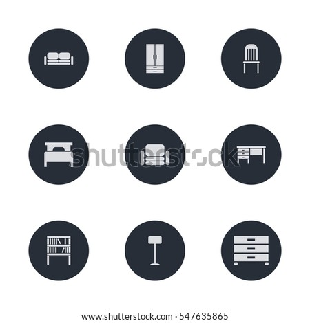 Interior Furniture Icon Illustration Vector Set For Web And Mobile Design