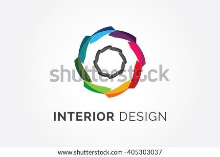 Interior Logo Design Company Stock Vector