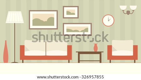 Cartoon Living Room Stock Images Royalty Free Images