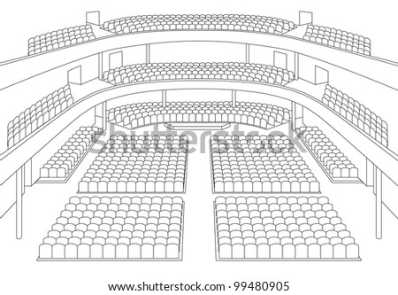 interior of theater hall plan vector - stock vector