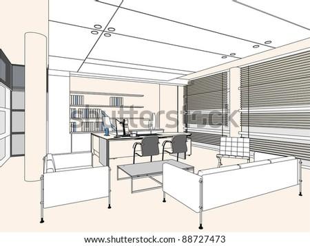 Office Room Stock Vectors Images Vector Art Shutterstock