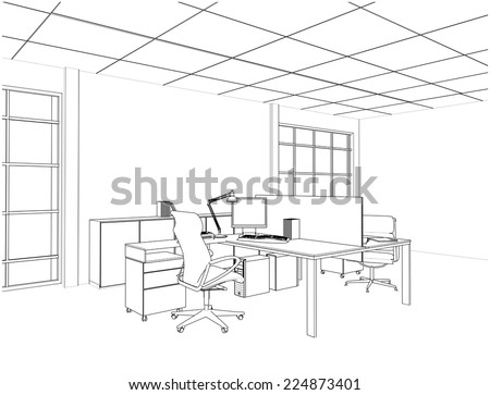 Interior Office Rooms Vector 15