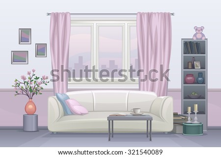 Interior room - stock vector